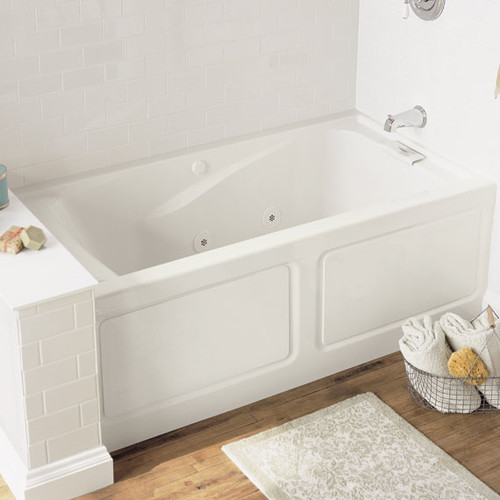 STERLING 71100112-96 Ensemble Bath and Shower Kit Biscuit 60-Inch x 36-Inch x 72-Inch Left-Hand