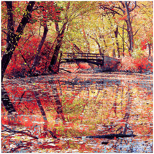 "Trademark Fine Art ""Monets Garden"" Canvas Art by Beata Czyzowska"