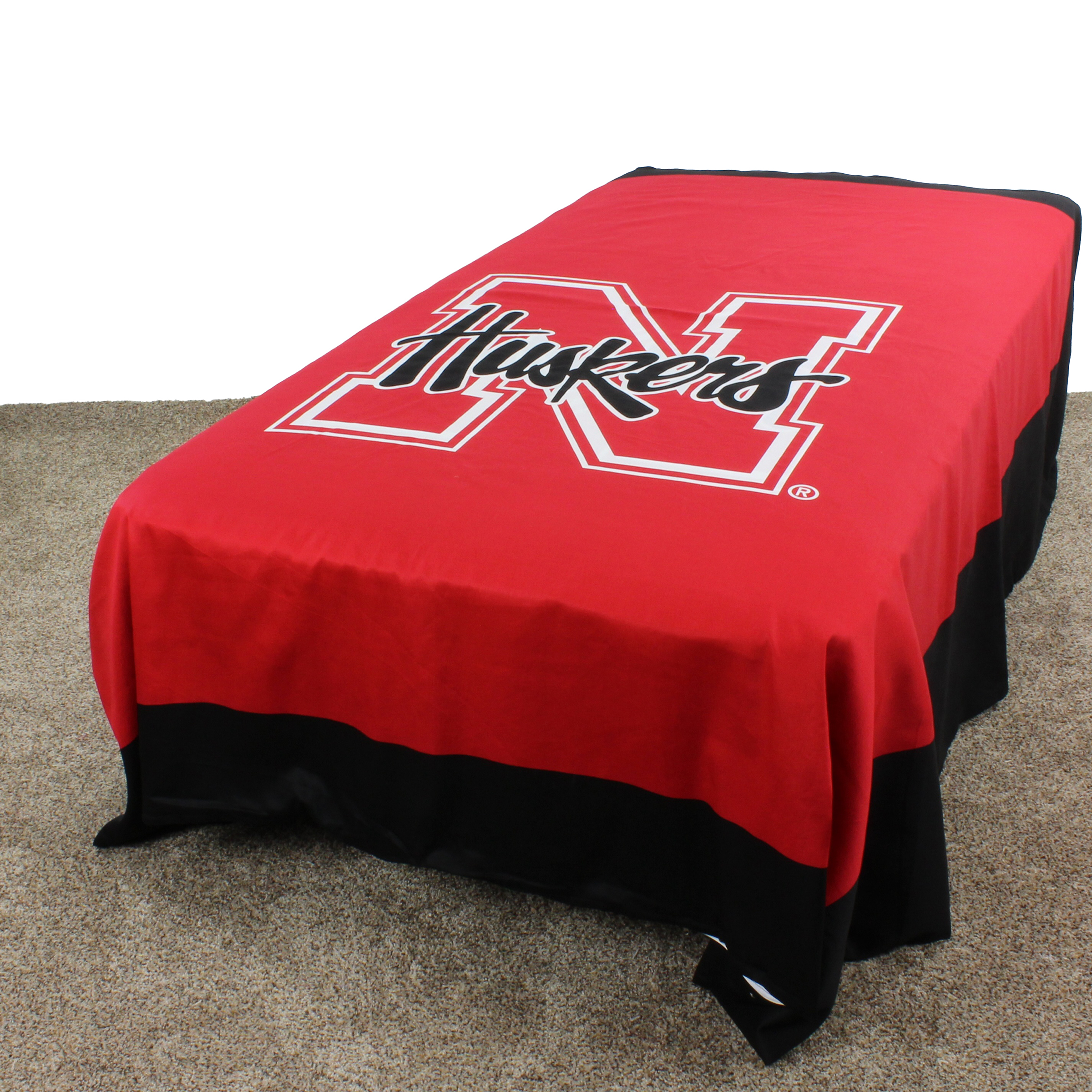 "Nebraska Cornhuskers Duvet Cover / Summer Blanket, 2 Sided Reversible, 100% Cotton, 86"" x 96"", Queen"