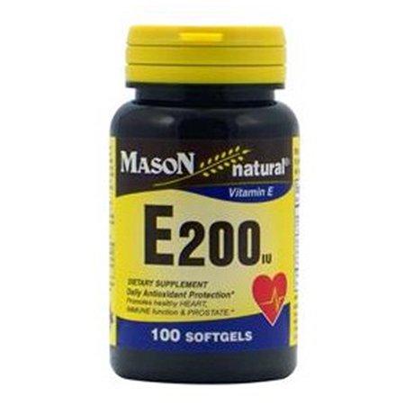 Mason vitamine E naturelle 200IU DL-alpha Gélules - 100 Ea