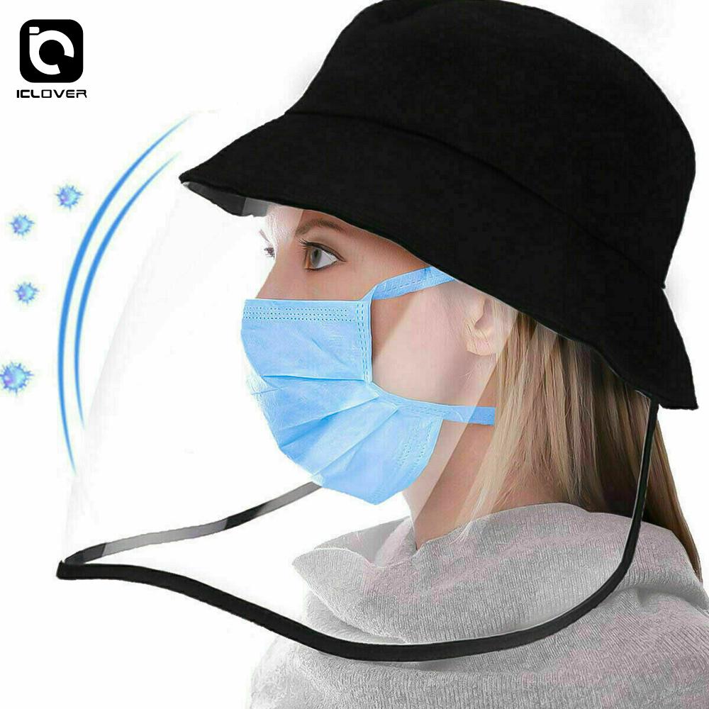 Fisherman Hat Protective Clear Anti-saliva Baseball Cap Full Face Shield Unisex*