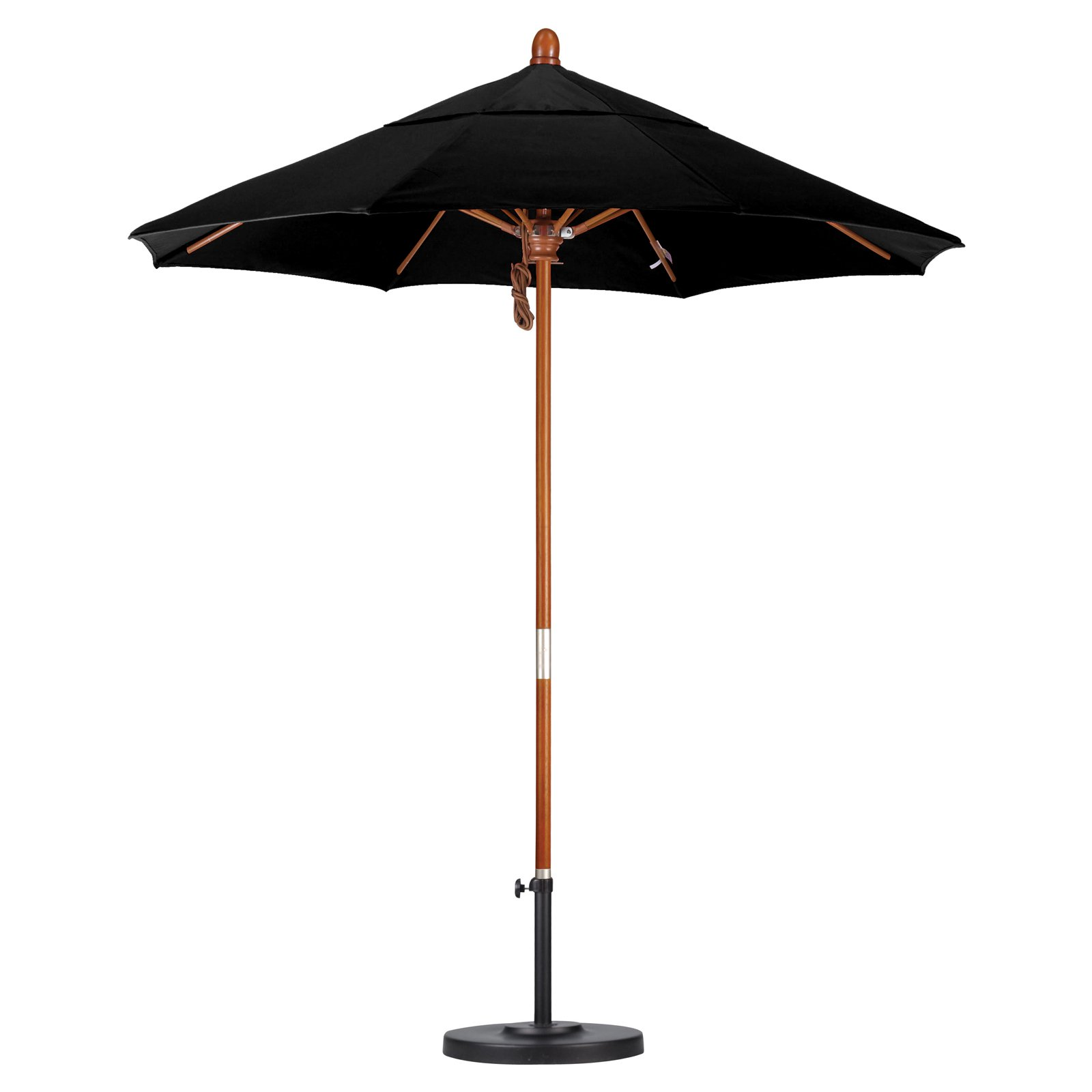 7.5 ft. Wood Market Umbrella (Olefin Red)