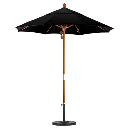 California Umbrella 7.5 ft. Marenti Wood Sunbrella Market Umbrella ()