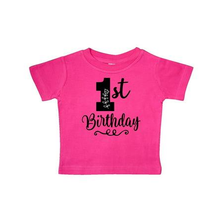 14d4a6b28 Inktastic - 1st Birthday One Year Old Girls Baby T-Shirt - Walmart.com