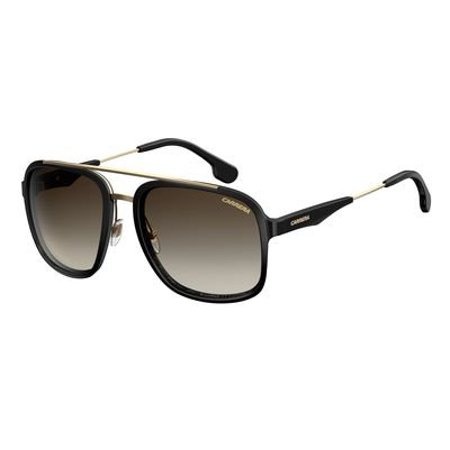 Carrera Men's Ca133s Aviator Sunglasses, Black Gold/Brown Gradient, 57 mm (Sonnenbrillen Carrera Männer)