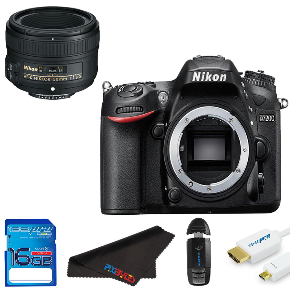 Nikon?D7200 DSLR Camera + Nikon AF-S DX NIKKOR 50mm f/1.8G Lens  +