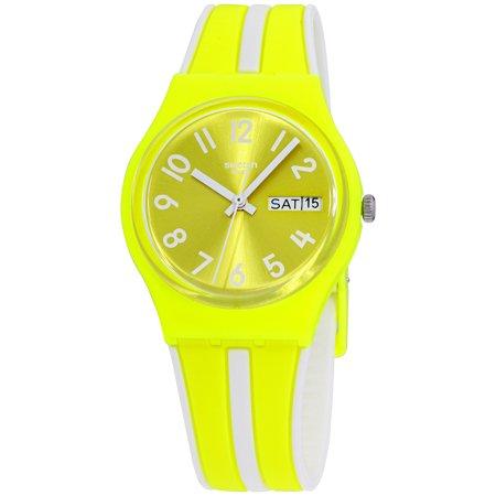 Swatch Lemoncello Quartz Movement Yellow Dial Unisex Watch GJ702 Unisex Yellow Dial