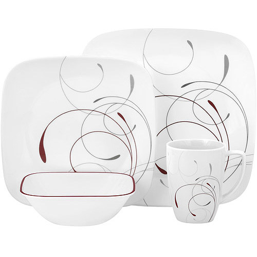 Corelle Squares 32-Piece Dinnerware Set, Splendor