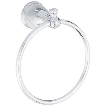 moen y3186ch lindale towel ring, chrome