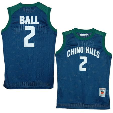 huge selection of 7de4d 291b2 Chino Hills Huskies Lonzo Ball Blue High School Jersey (S)
