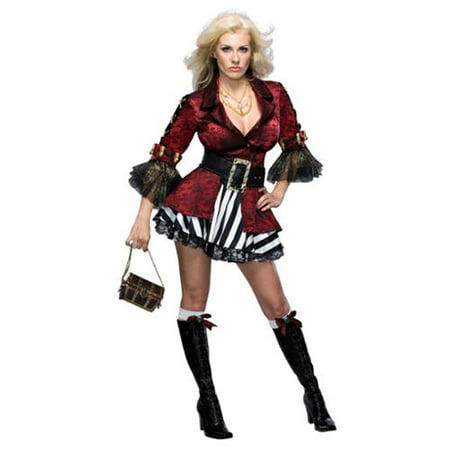 Womens Pirate Outfit (Sexy Adult Womens Halloween Costumes Lady Pirate Buccaneer Wench Girl Costume Theme Party)