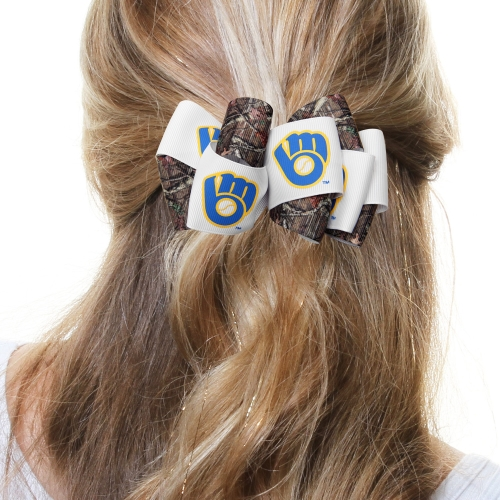 Milwaukee Brewers Women's Mary Loop with Mossy Oak Hair Bow - No Size
