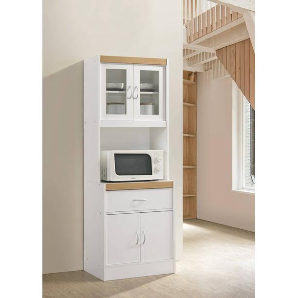 Hodedah Modern Kitchen Cabinet White Walmart Com Walmart Com