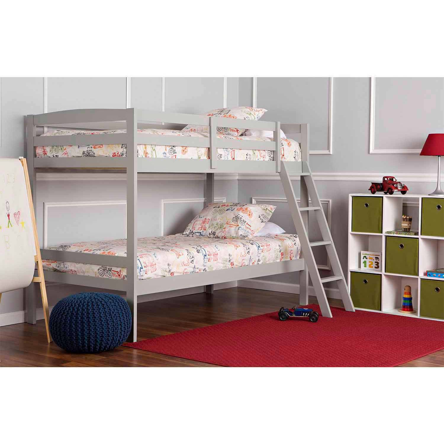 Dream On Me Taylor Twin Over Twin Bunk Bed, Gray (Box 1 of 2) by Dream On Me