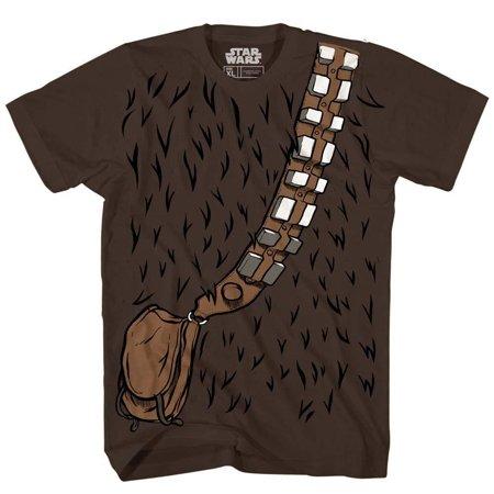 Chewbacca Chewie Star Wars Costume Funny Humor Pun Adult Men's Graphic Tee T-shirt - Star Wars Costume Shirt