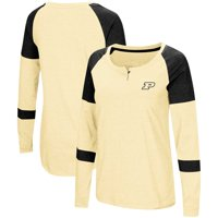 Purdue Boilermakers Colosseum Women's Dorothy Henley Raglan Long Sleeve T-Shirt - Gold