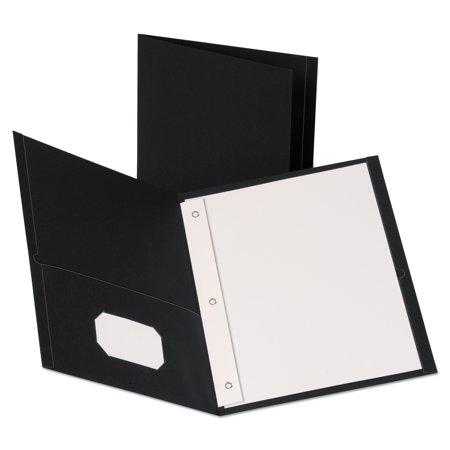 Leatherette Two Pocket Portfolio with Fasteners, 8 1/2