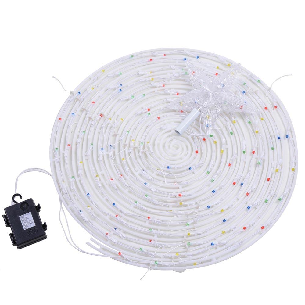 Yescom LED Spiral Christmas Tree Light Indoor Outdoor Yard Xmas ...