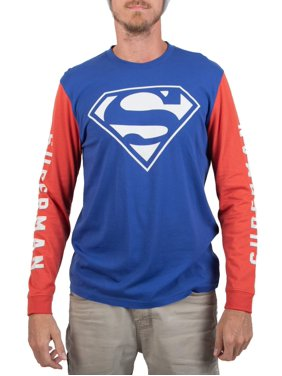Men's Dc Comics Superman Classic Logo Blue and red Graphic T-shirt and Beanie set