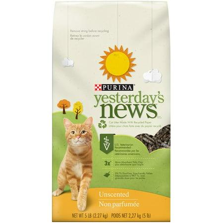 Purina Yesterdays News Unscented Cat Litter  5 Lb
