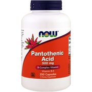 Now Foods, Pantothenic Acid, 500 mg, 250 Capsules(pack of 1)
