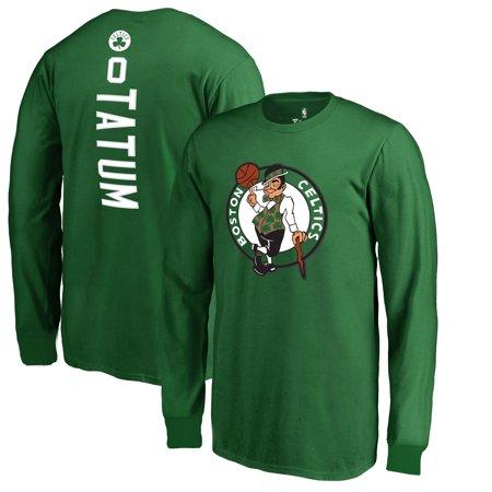 reputable site ad40c 08750 Jayson Tatum Boston Celtics Fanatics Branded Youth Stacked Name & Number  Long Sleeve T-Shirt - Kelly Green