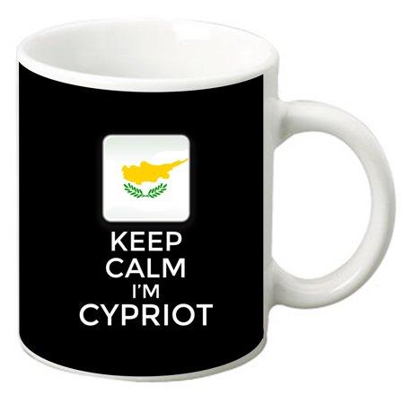 Keep Calm I'm Cypriot 11 Oz. White Ceramic Coffee