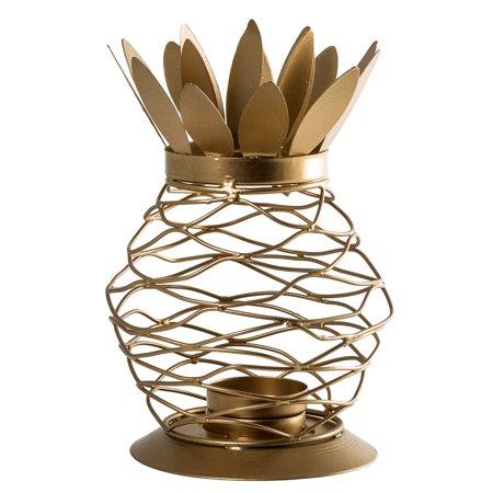 Metal Gold Finish Pineapple Lantern Tealight Candle Holder](Lantern Holder)