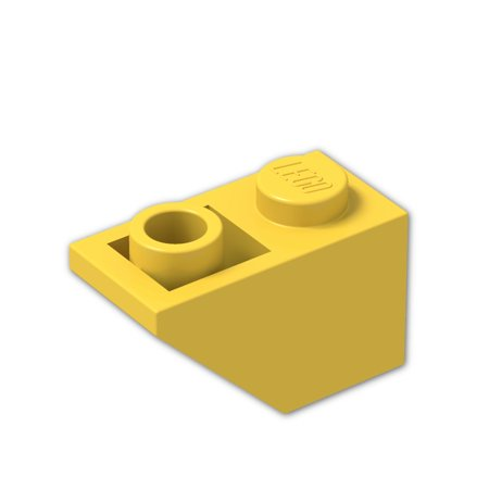 Brick Building Sets Original Lego Parts: Slope, Inverted 45º 2 x 1 (3665 - Pack of 8) (Yellow)