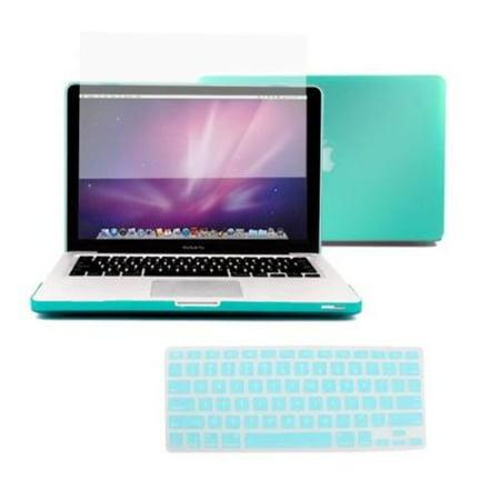 (AGPtek 3in1 Rubberized Hard Case Laptop Shell +Keyboard Skin + Screen Protector for Macbook Pro 13 13.3