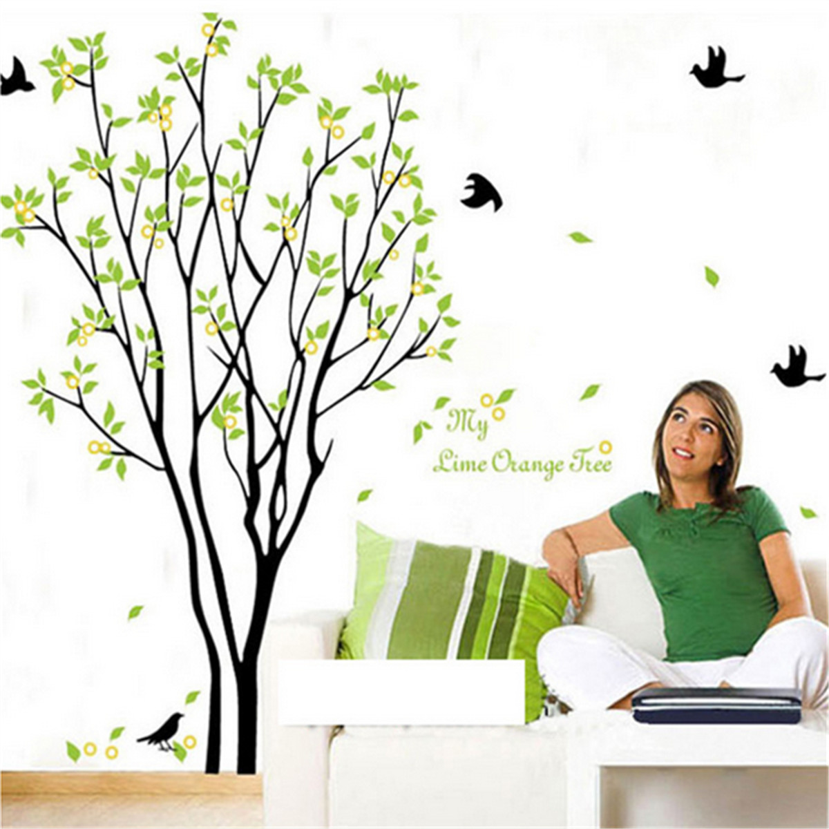 Tree Bird Removable Vinyl Quote Wall Sticker Decal Mural Diy Art