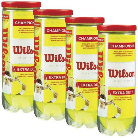 Wilson Championship Extra-Duty Tennis Balls (4 cans, 12