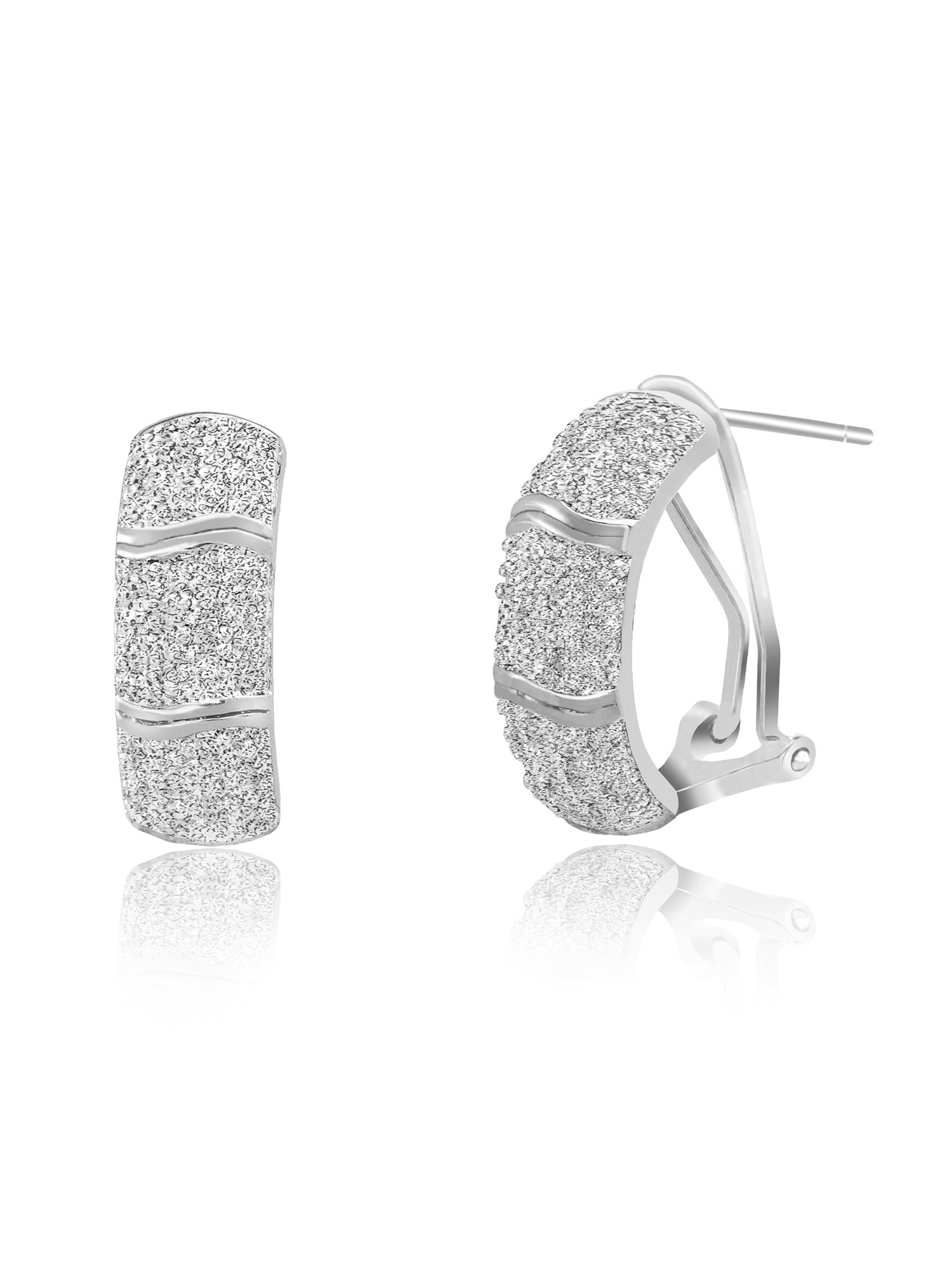 Lumineux Diamond Accent Half Hoop Earring