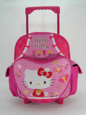 Small Rolling Backpack Hello Kitty Garden New School Book Bag 629885 by Ruz