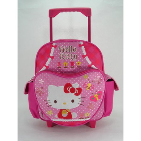 Small Rolling Backpack - - Garden New School Book Bag 629885