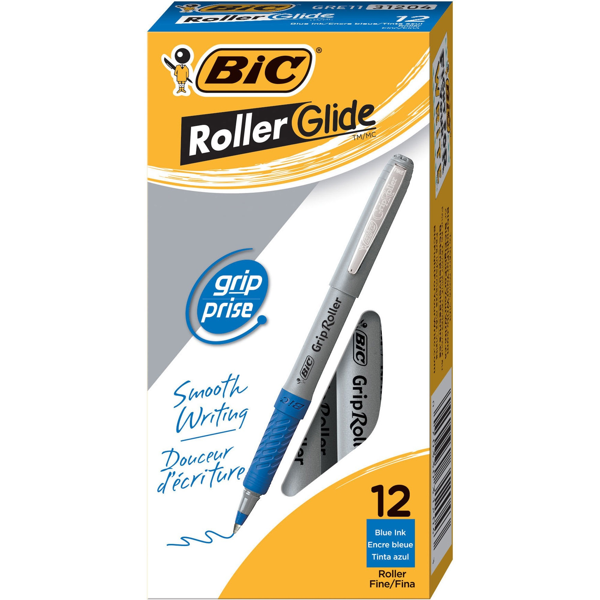 Bic Roller Glide Deco Roller Ball Pen Fine Point