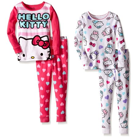 Komar Kids Girls' Hello Kitty 4 Piece Cotton Sets