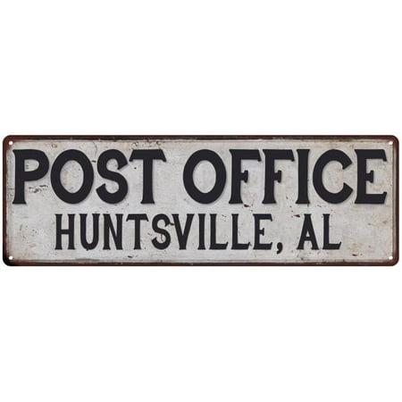 Halloween Store Huntsville Al (Huntsville, Al Post Office Personalized Metal Sign Vintage 6x18)
