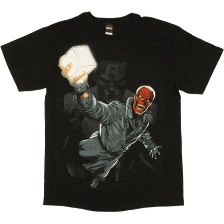 Captain America Red Skull T Shirt