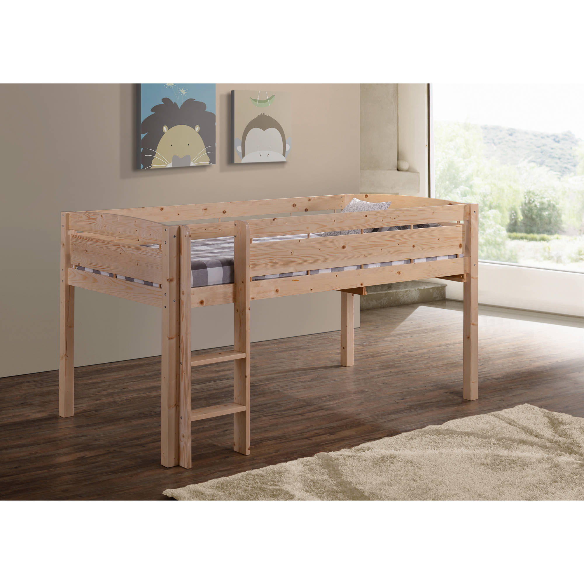 Corliving Madison Twin Loft Bed With Desk And Storage Walmart Com