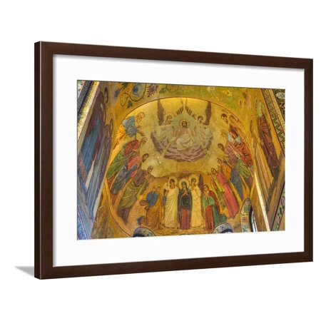 Ceiling frescos, Church on Spilled Blood (Resurrection Church of Our Saviour), UNESCO World Heritag Framed Print Wall Art By Richard (Best Ceilings In The World)