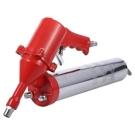 Tebru Home Grease Gun, Manual One-Hand Pistol Grip Air Pneumatic Compressor Pump Grease Gun W/ Extension Set Home Tool, Crease Gun Tool ()