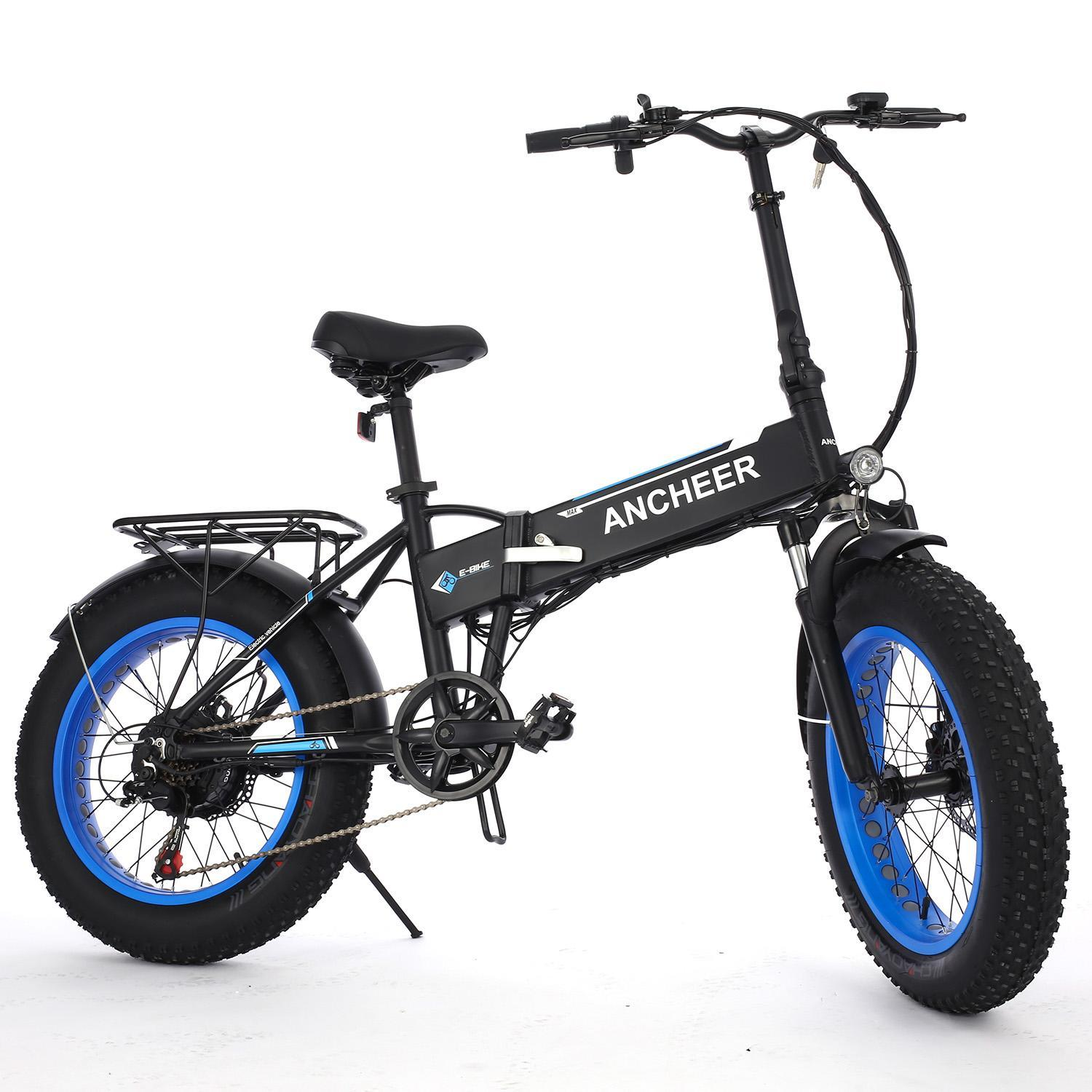 Folding Electric Mountain Bike 20 Inch Wheel,6 speed  Fat Tire  Electric Bicycles E-bike & Lithium Battery