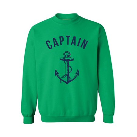 Awkward Styles Captain's Crewneck Cute Sailors Clothing Anchor Unisex Crewneck Captain Crewneck Unisex Sweater Marine Crewneck for Girls Sea Funny Crewneck for Men Women Gifts Ocean Lovers Presents (Anchor Sweater)