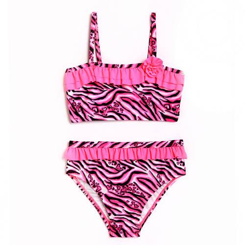 Zebra Print Bikini Pink
