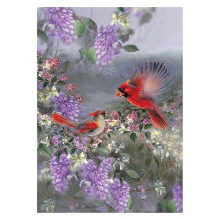 Toland Home Garden Two Cardinals Flag - St Louis Cardinals Halloween Flag