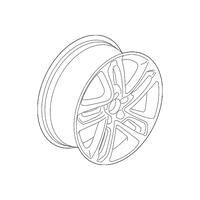 Genuine OE Acura Wheel Assembly, Aluminum (20X8 1/2J) (TPMS) (Enkei) 42800-TYR-A20