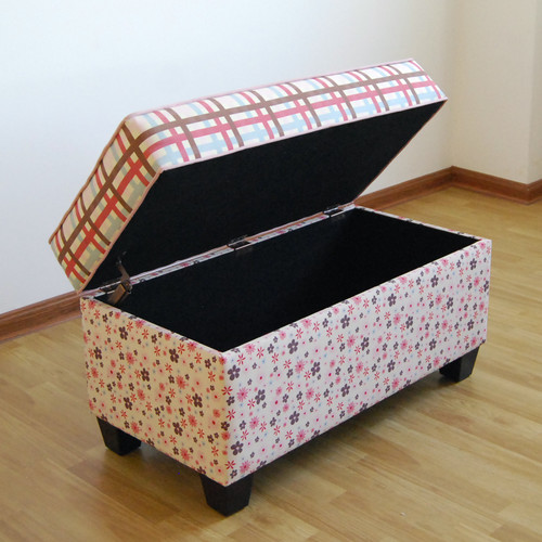 Harriet Bee Portillo Upholstered Storage Bench