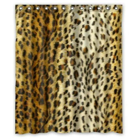 Ganma Cheetah Print pattern Shower Curtain Polyester Fabric Bathroom Shower Curtain 66x72 inches (Cheetah Bathroom Curtains)