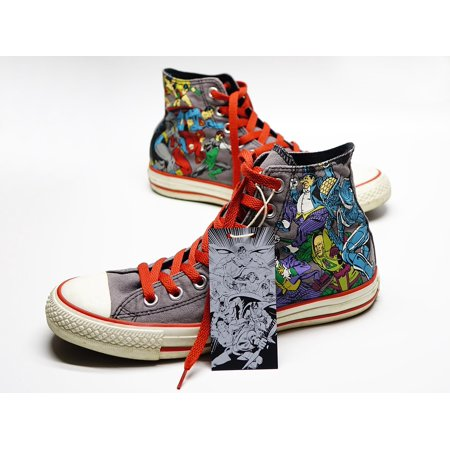 Framed Art For Your Wall Shoe Super Hero Sneakers Canvas Casual Converse 10x13 - Superhero Converse
